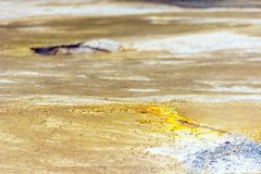 Ground texture in Wai-O-Tapu geothermal area, Rotorua, New Zealand.  royalty free stock image