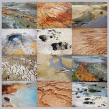 Ground textures  collage Royalty Free Stock Photography