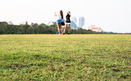 Ground at Thai Loyal from the ground level Royalty Free Stock Images