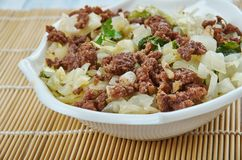Ground Turkey and Cabbage Stir-Fry. Close up royalty free stock images