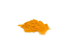 Ground Turmeric. Food & Drinks - Spices - Ground turmeric isolated on white background Royalty Free Stock Photos