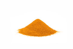 Ground Turmeric Powder. Piled on a white background Stock Image