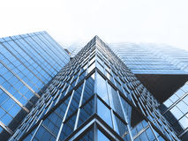Ground View of Glass Panel Building Stock Images