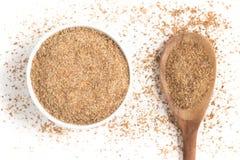 Ground Wheat into a bowl. Trigo para quibe. Kibbeh Stock Photography