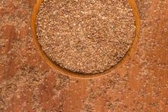 Ground Wheat into a bowl. Trigo para quibe. Kibbeh Royalty Free Stock Photography