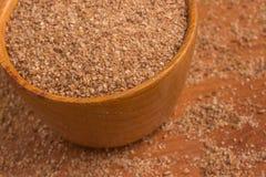 Ground Wheat into a bowl. Trigo para quibe. Kibbeh Stock Photo