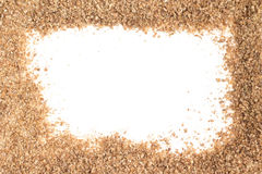 Ground Wheat Frame. Trigo para quibe. Kibbeh Royalty Free Stock Image