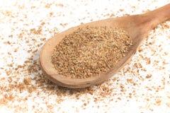 Ground Wheat into a spoon. Trigo para quibe. Kibbeh Royalty Free Stock Photography