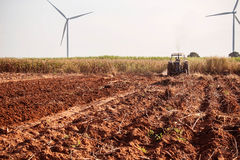 Ground where the farmers are plowing. royalty free stock image
