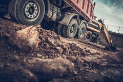 Ground Works Construction Site royalty free stock images