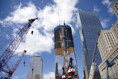 Ground Zero. Construction works in New York Royalty Free Stock Photos