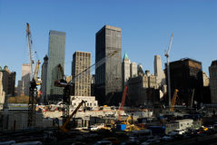 Ground Zero Construction Site Royalty Free Stock Photo