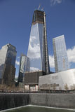 Ground Zero Freedom Tower, WTC. National September 11 Memorial at the World Trade Center, now Freedom Tower Stock Photo