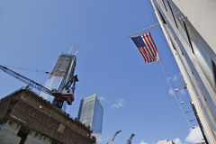 Ground Zero Freedom Tower. The National September 11 Memorial at the World Trade Center Stock Photo