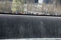 Ground Zero Freedom Tower WTC. The National September 11 Memorial at the World Trade Center Royalty Free Stock Images