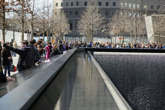Ground Zero Freedom Tower  WTC. The National September 11 Memorial at the World Trade Center Stock Photography
