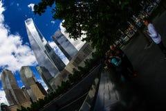 Ground Zero and One World Trade Center stock image