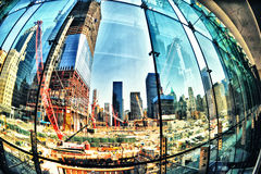 Ground zero reconstruction Royalty Free Stock Images