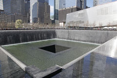 Ground Zero  Freedom Tower WTC. National September 11 Memorial at the World Trade Center .Shows South Reflection Pool Stock Image
