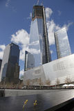 Ground Zero  Freedom Tower. The National September 11 Memorial at the World Trade Center Stock Images