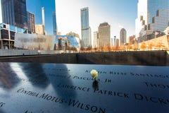 Ground zerominnesmärke arkivbild