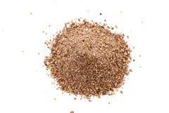 Groundbait ha utilizzato in alimentatore fotografia stock