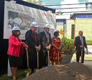 Groundbreaking Ceremony For Paul Robeson Plaza royalty free stock photos