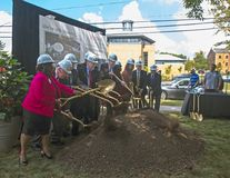 Groundbreaking Ceremony For Paul Robeson Plaza royalty free stock image