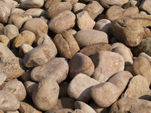 A Groundcover of Large Stones. A groundcover of large light colored stones or rocks Stock Photography
