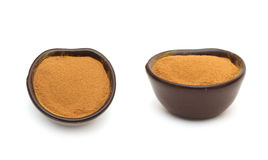 Grounded cinnamon in a clay bowl Stock Photography