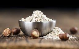 Grounded Hazelnuts Royalty Free Stock Images