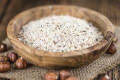 Grounded Hazelnuts Stock Images