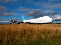 Grounded jet plane Stock Image