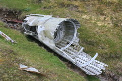 Remains of crashed airplane Royalty Free Stock Image