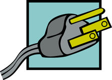 grounded power plug vector illustration Stock Photography