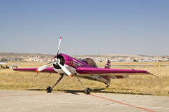 Grounded stunt plane. Stunt plane grounded under the Andalusian sun royalty free stock photos