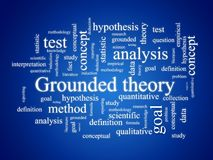 Grounded theory. Grounded theory - qualitative research method Royalty Free Stock Photos