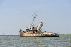 Grounded vessel Stock Images
