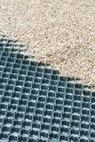 Groundguard grid for gravel royalty free stock photos
