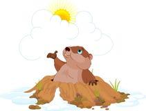 groundhog royaltyfri illustrationer