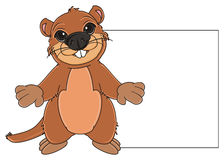 Groundhog and clean poster royalty free illustration