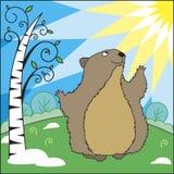 Groundhog dag vektor illustrationer