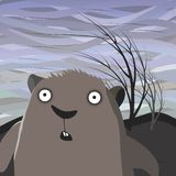 Groundhog dag stock illustrationer