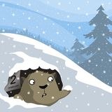 Groundhog dag vektor illustrationer