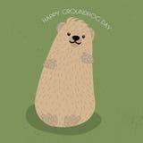 Groundhog dag royaltyfri illustrationer