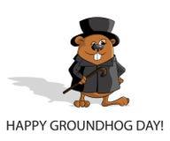 Groundhog dag stock illustrationer