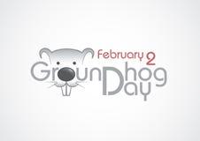 Groundhog dag, text. royaltyfri illustrationer