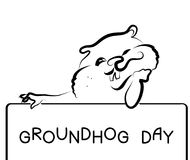 Groundhog day royalty free illustration