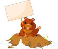 Groundhog Day billboard Stock Photography