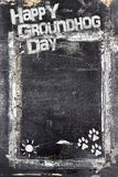Chalkboard Groundhog Day royalty free stock photography